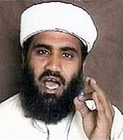 Suliman abu Ghaith in an October 2001 video.